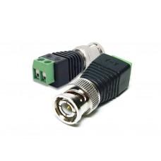 Conector BNC Macho com Borne (Pct c/ 10 unid)